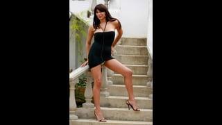 Marcella Italy In Sexy Abito Corto Nero