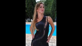 Alexia Firenze In Sexy Abito Di Pelle