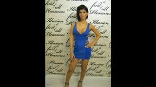 Ts Jessica Versace In Abito Corto Blu