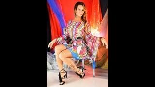 Priscilla Backham Bionda Trans Indossa Kimono