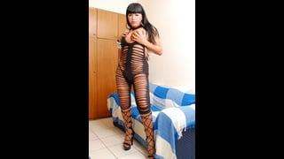 Ts Taisa Davylla In Sexy Lingerie Nera