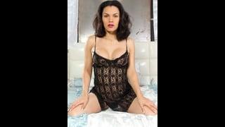 Shemale Gaby Garcia In Sexy Babydoll Nero