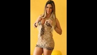 Sexy Trans Nicole Ribeiro In Abito Leopardato