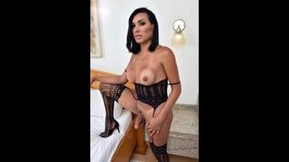 Porno Trans Cacau Dipaula In Sexy Lingerie Nera
