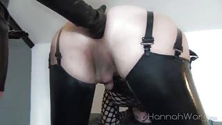 Latex che passione!Fisting anal!