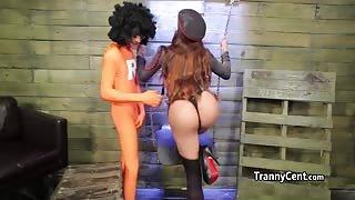 Trans pornostar Jessy Dubai e il cazzo gigante di Ramon