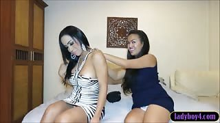 Analsex with Amy Amour and Thai ladyboy