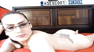 Ts Nikkie in webcam show