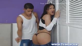 Giovane coppia in webcam