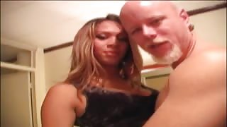Bald man buggers ts escort in hotel