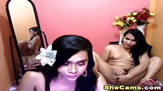 Amateur cam with ladyboy
