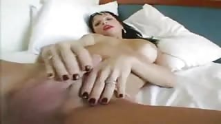 Huge shemale cumshot after jerk off