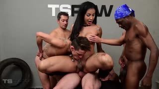 Gangbang with six big knob