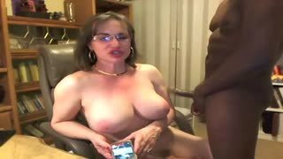 Fatty shemale fucks with her black lover