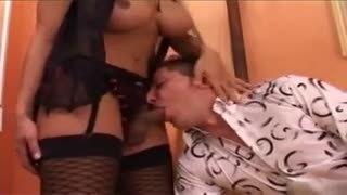 Italian porn Pierre Dj fucks brunette shemale