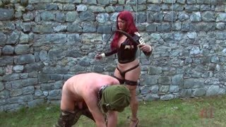 TS dominatrix with whip
