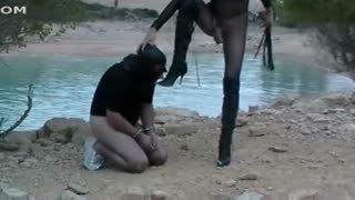 Transsexual BDSM xxx slave's torture