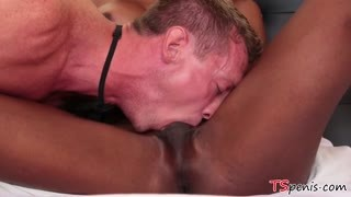 Hard black cock of TS ebony Natassia Dream