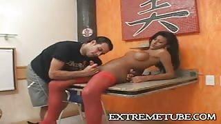 Trans sexy latina Miriany Ribeiro in azione!